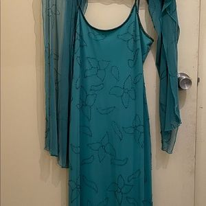 Chelsea Full Length Dress and matching Wrap
